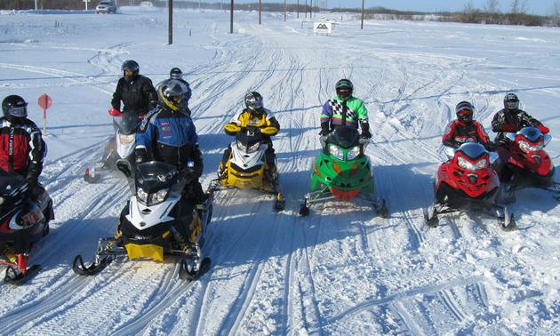 snowmobiling in Yorkton